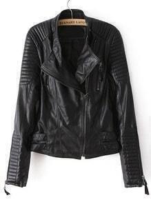 Zipper PU Crop Jacket