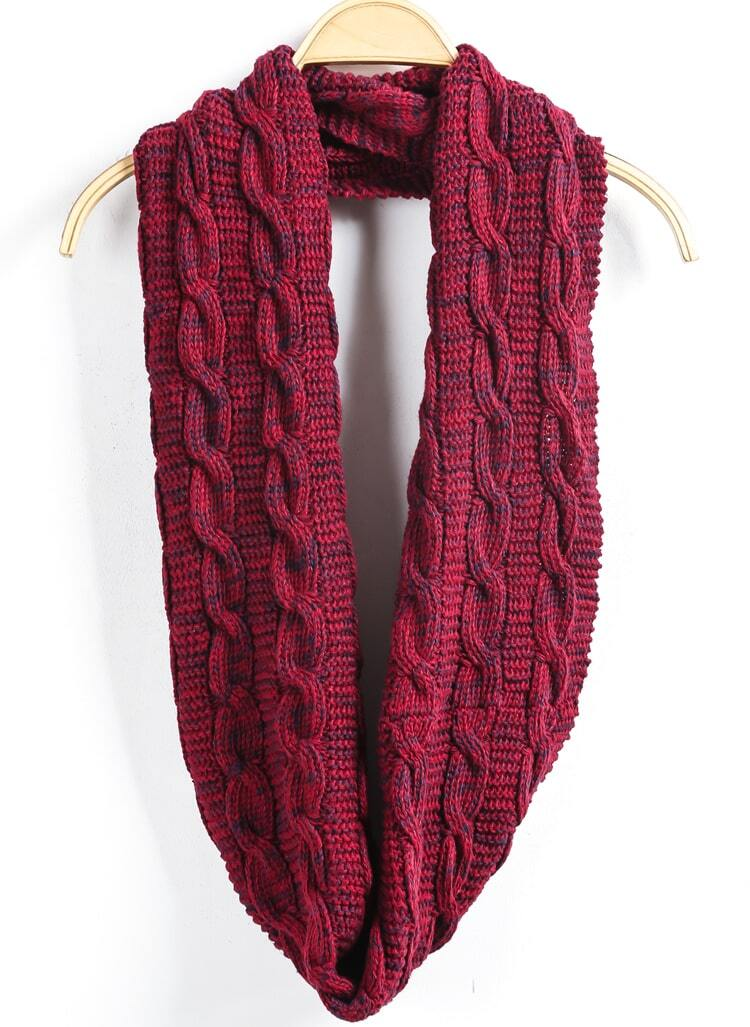 cable knit wine scarve