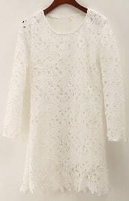Floral Crochet Lace Bodycon Dress