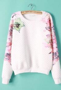 Floral Print Crop Sweatshirt
