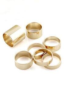 ROMWE Slick Multipack Gold Rings
