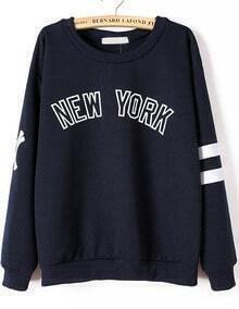 NEW YORK Print Loose Sweatshirt