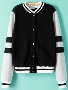 Single Button Stand Collar Jacket