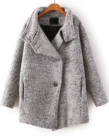 Pockets Lapel Grey Coat