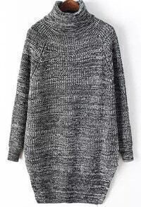 Split Hem Light Grey Knit Sweater