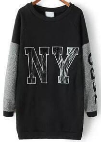 NY Print Black Sweatshirt