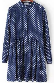 Vintage Polka Dot Blue Dress