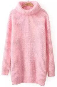 High Neck Pink Sweater