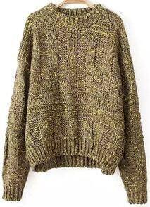 Batwing Loose Yellow Sweater