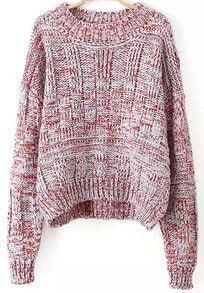 Batwing Loose Orange Sweater