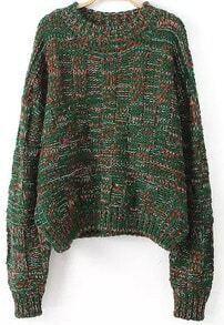 Batwing Loose Green Sweater