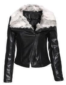Oblique Zipper Crop Jacket