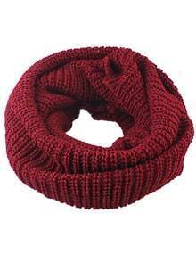 Solid Casual Scarf-Red