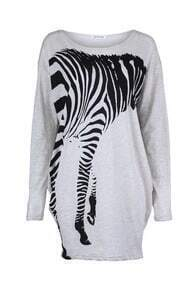 Oversized Zebra Loose T-shirt