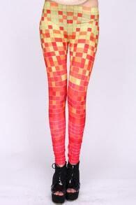 Gradient Block Orange Leggings