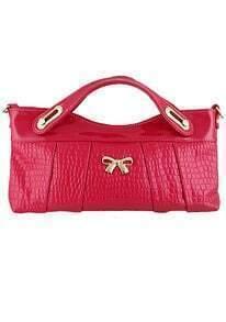 Bow Embellished Red Bag