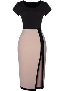 Colour-block Split Bodycon Dress
