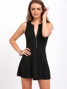 Sleeveless Zipper Slim Dress