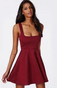 Strap Backless Pleated Dress