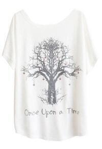 Batwing Wishing Tree Print T-Shirt