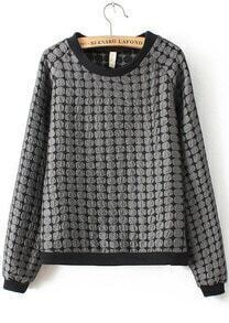 Polka Dot Organza Loose Sweatshirt