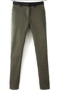 Geometric Print Pockets Pant
