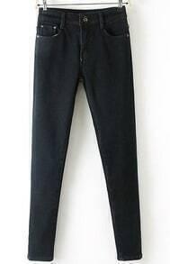 Pockets Denim Black Pant