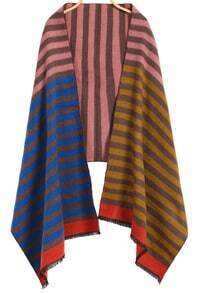 Striped Classical Pink and Blue Scarf
