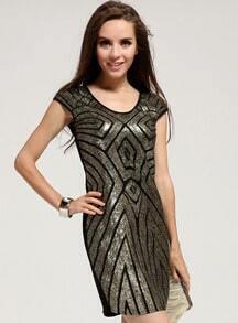Geometric Pattern Bodycon Dress