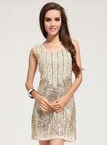 Sleeveless Sequined Bodycon Dress
