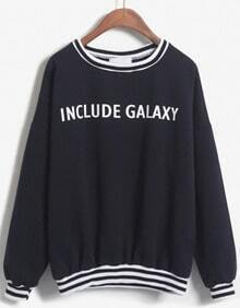 INCLUDE GALAXY Print Navy Sweatshirt