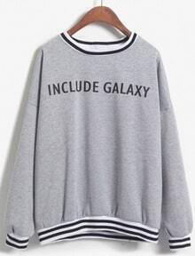 INCLUDE GALAXY Print Grey Sweatshirt
