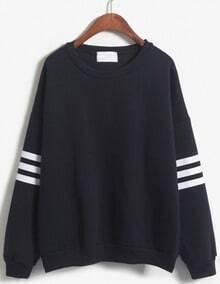 Striped Loose Navy Sweatshirt