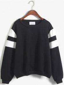 Bowie Print Loose Black Sweatshirt