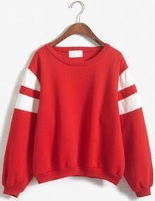 Bowie Print Loose Red Sweatshirt