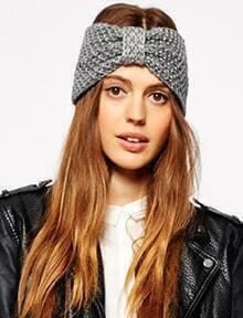 Bow Knit Headband Hat