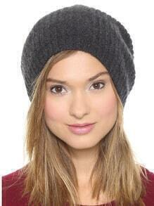 Dome Knit Grey Hat