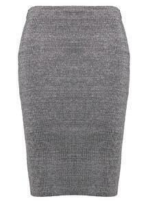 Slim Knit Bodycon Grey Skirt