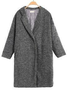 Breasted Woolen Loose Grey Coat