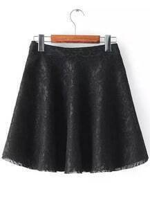 Embroidered Lace Flare Skirt