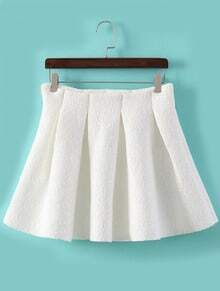 Vintage Flare Lace White Skirt