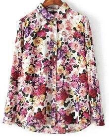 Floral Print Loose Blouse