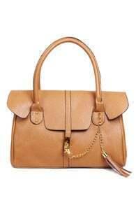 Khaki Hand Tote Bag