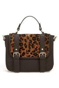 Leopard Flap Horsehair Bag