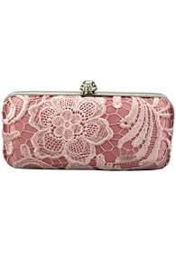 Overlay Lace Pink Clutch