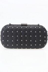 Rivets Detailed Black Clutch