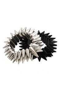 Three Levels Spikes Elastic Bracelet