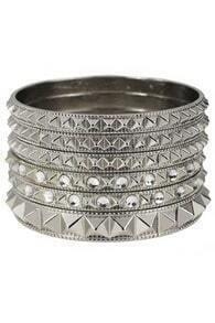 Myltilevels Ribbed Silver Bracelet