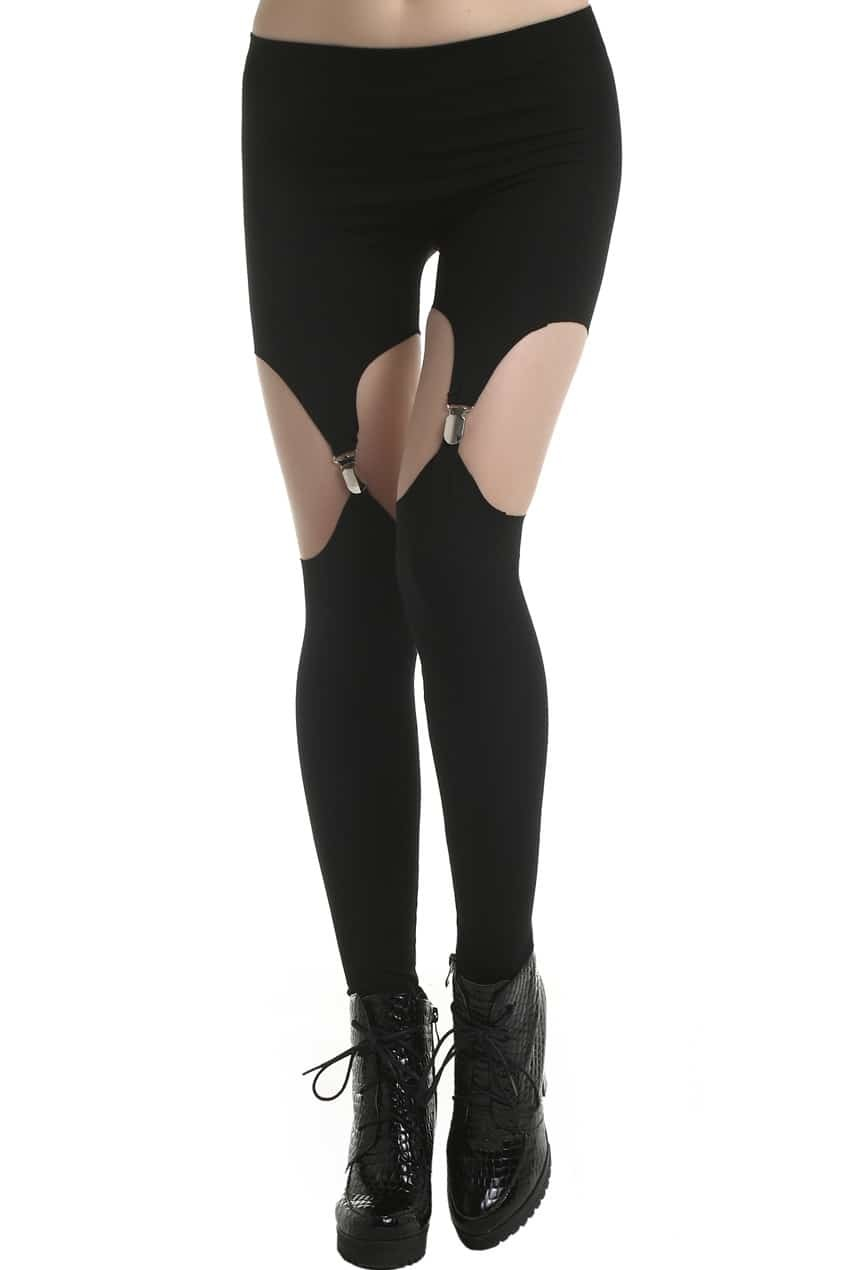 Cut Out Leggings - Trendy Clothes