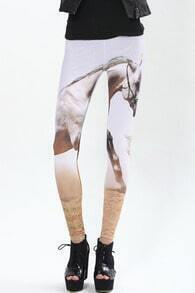 Horse In Desert Leggings